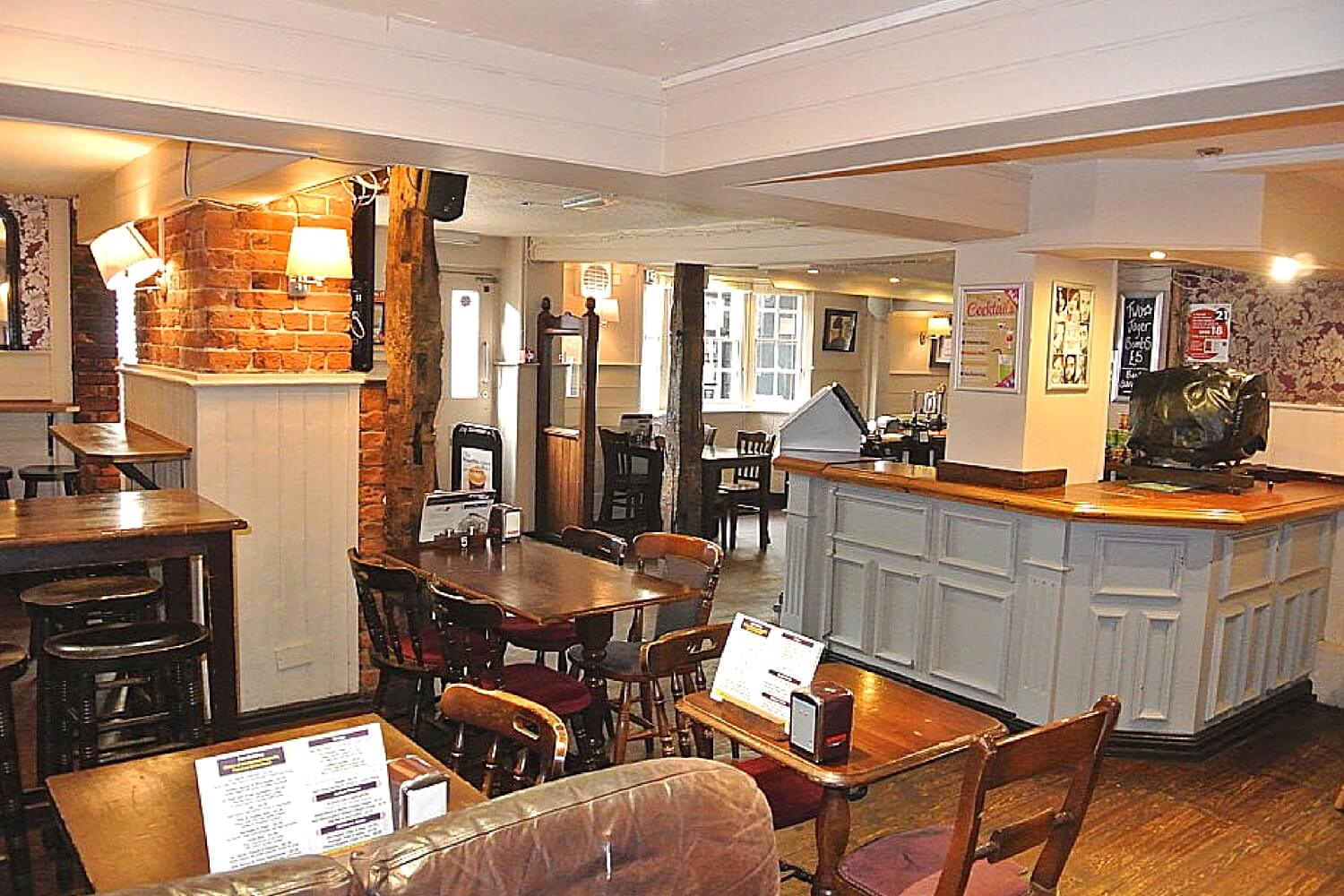 The Purple Dog Pub Colchester Bar and Seating Area