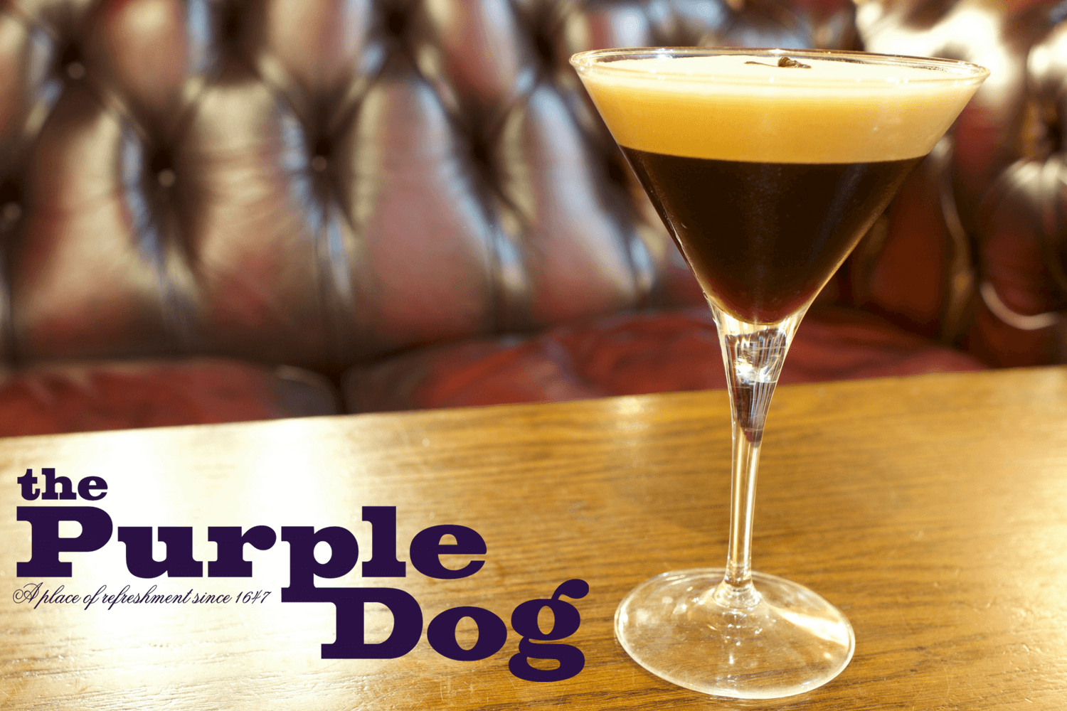 Coffee Martini - The Purple Dog Pub Colchester