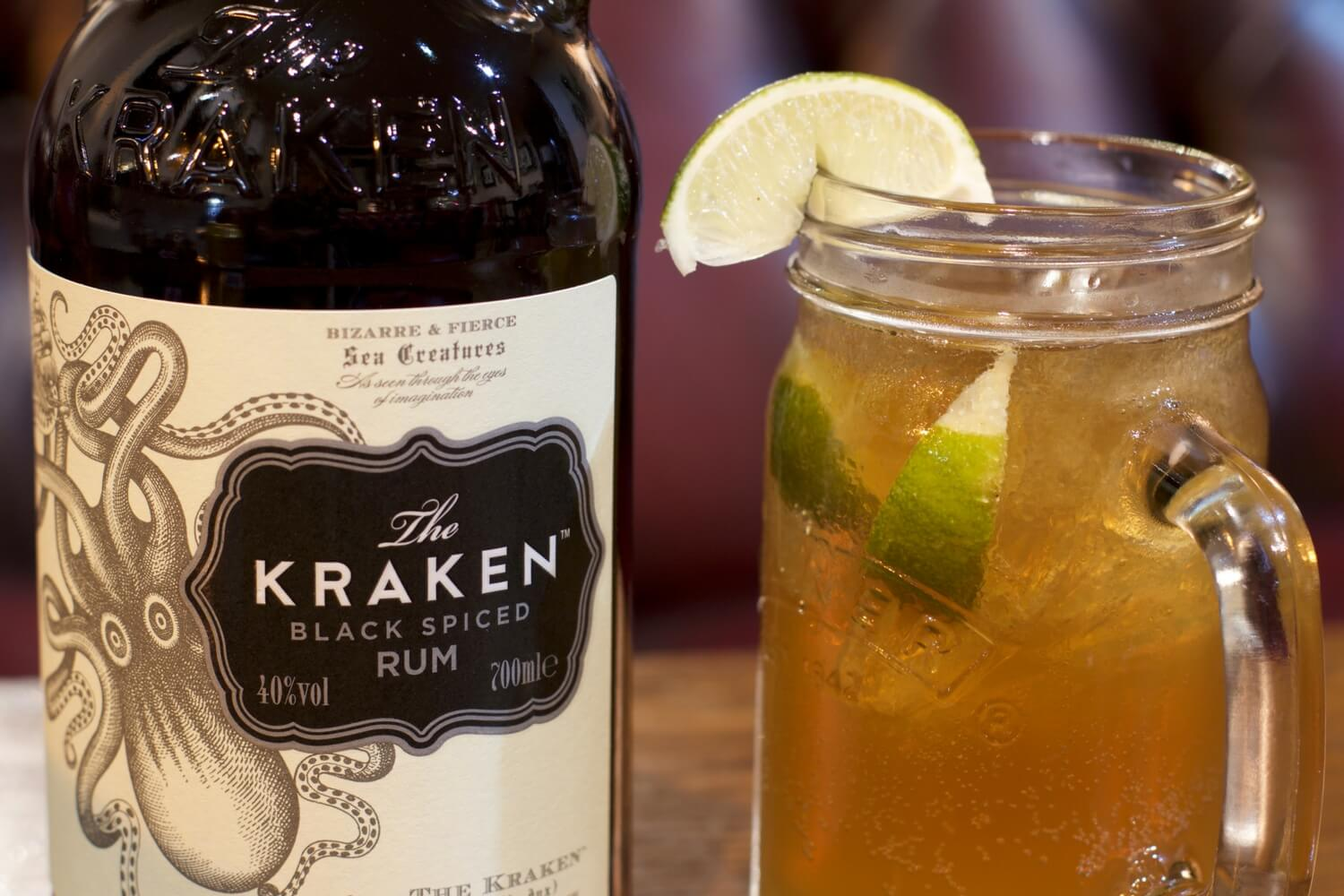 Kraken Black Spiced Rum - The Purple Dog Pub Colchester