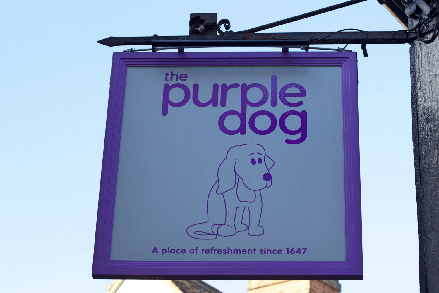 The Purple Dog - Pub Sign