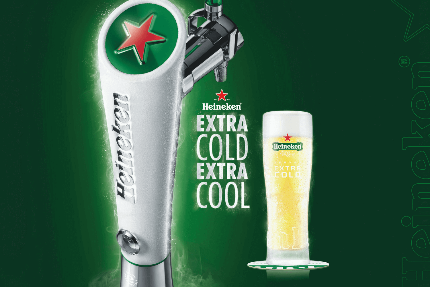 Heineken Extra Cold - The Purple Dog Pub Colchester