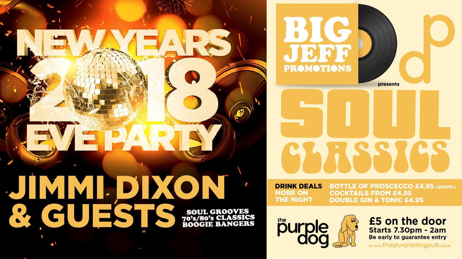 The Purple Dog Pub - Big Jeff Promotions - NYE 2018